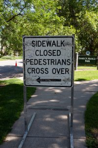 side walk closing